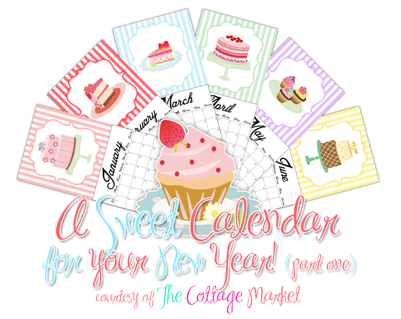 a sweet calender printable for your happy new year the cottage market