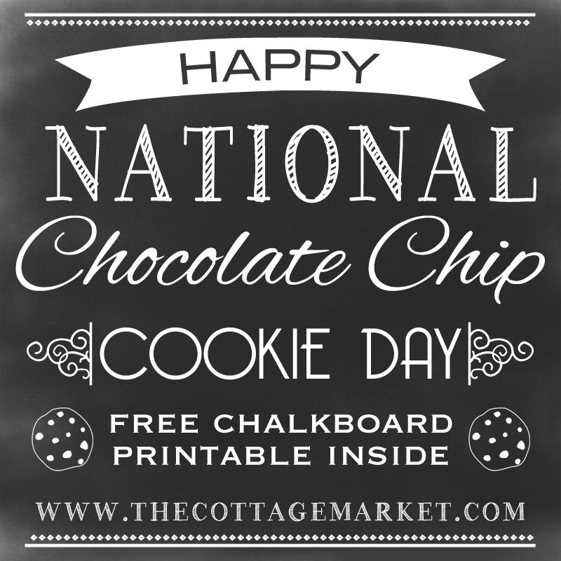Free Chalkboard Printable Celebrating National Chocolate