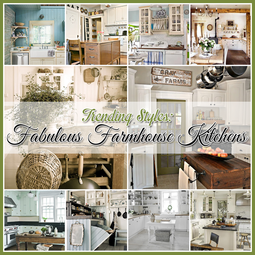 Fabulous farmhouse kitchens a trending style in natural for Farm style kitchen decor
