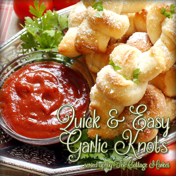 Quick and Easy Garlic Knots – On the Lite Side!!