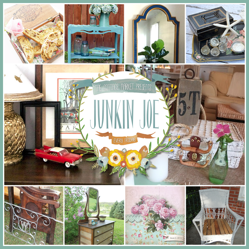 Vintage and Thrifty Upcycled Project and Finds and a FUN LINKY Party…ALL WELCOME at Junkin Joe's