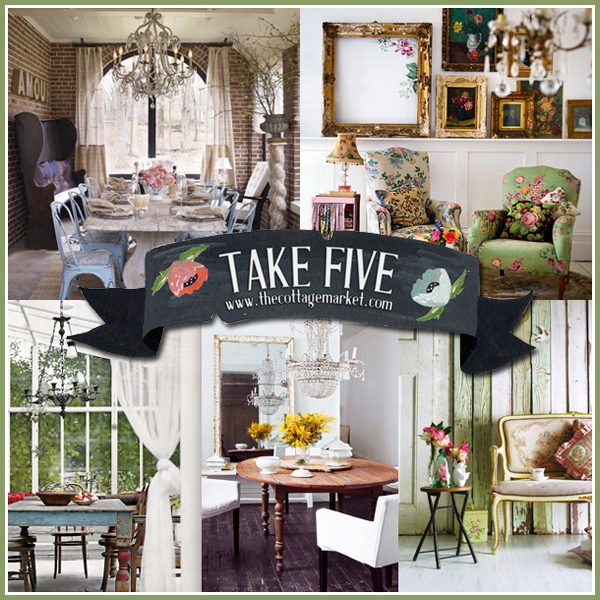 Take five fun with vintage decor the cottage market for Decorations for a home