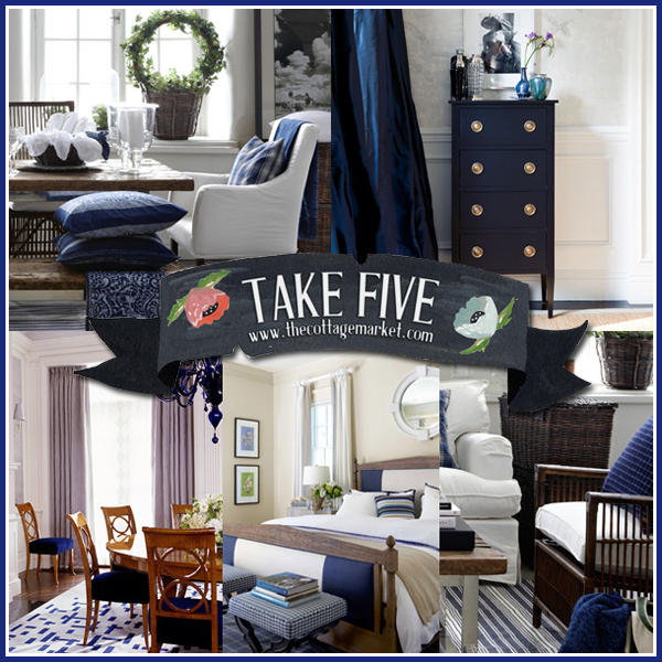 Blue Color Decoration Ideas For Living Room: Take Five: The Color Navy In Home Decor