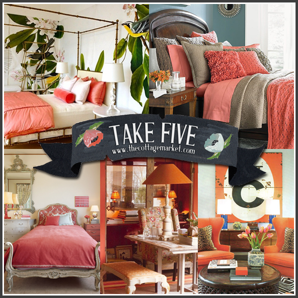 Take Five: Decorating With Coral And Salmon