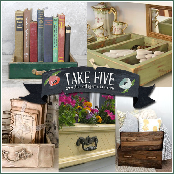 5 Unique Upcycled Drawer Projects The Cottage Market