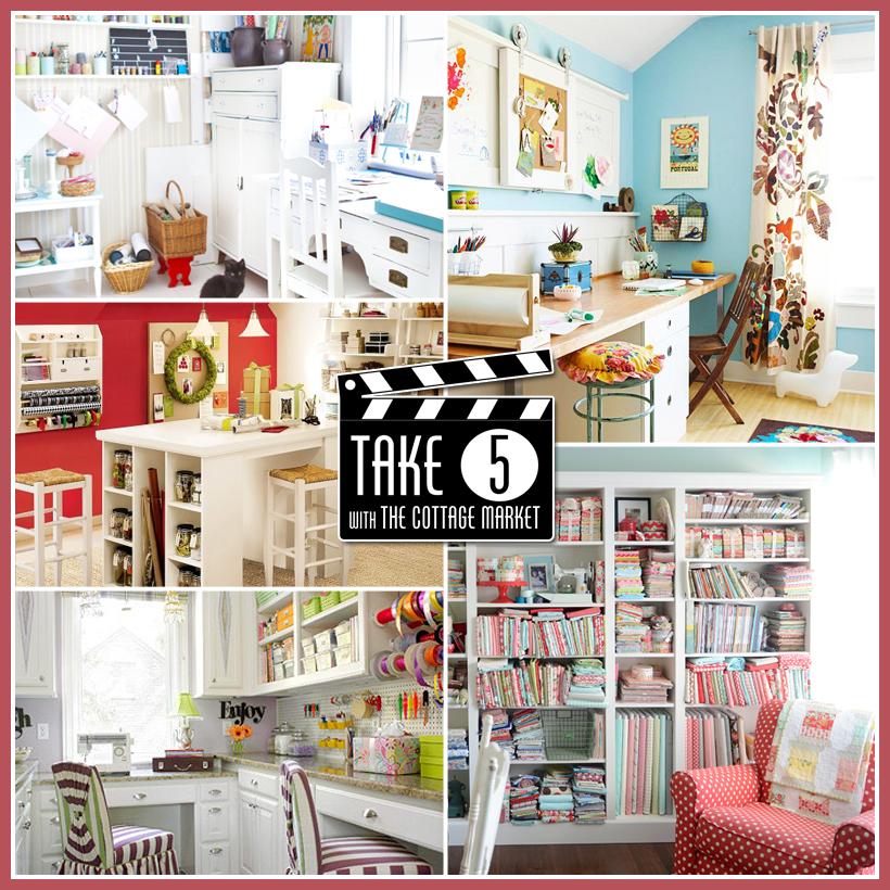 Take 5… Five Fabulous Craft Room Make-overs