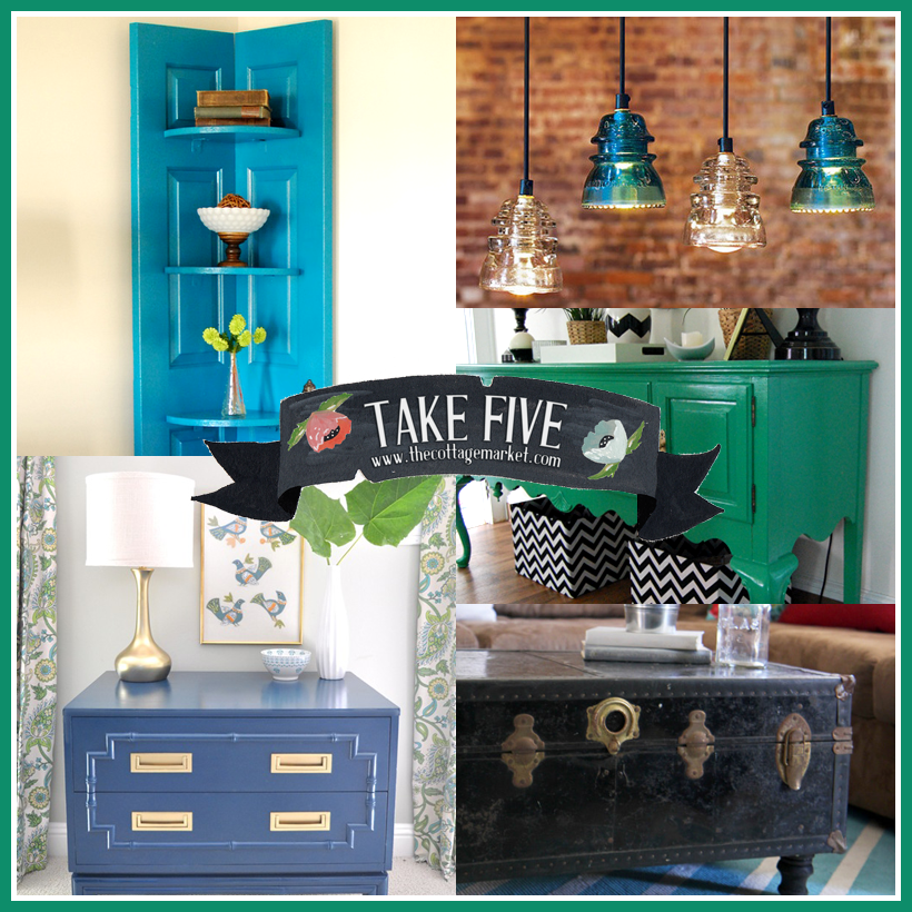 Repurposed And Upcycled Farmhouse Style Diy Projects: Take 5: All About Upcycling DIY's