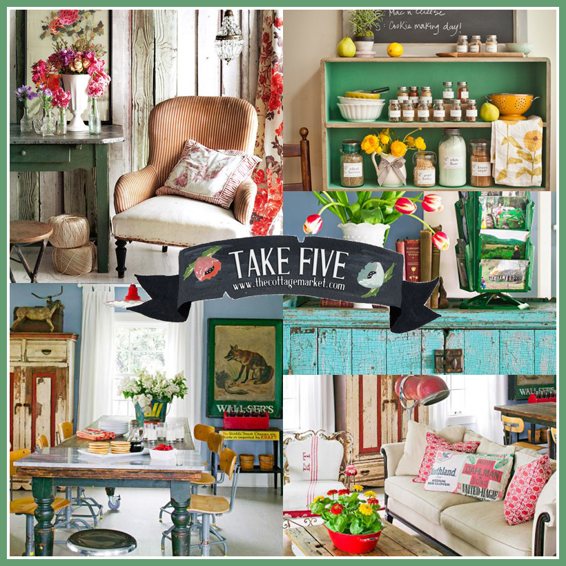 Decorating With Vintage The Cottage Market