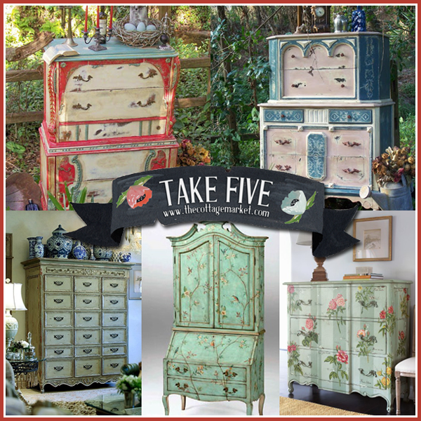 Take 5: Hand Painted Focal Painted Furniture Pieces