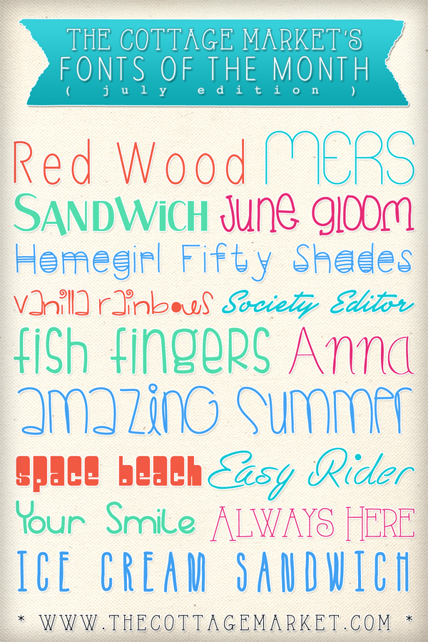 Free Summer Time Fun Fonts The Cottage Market