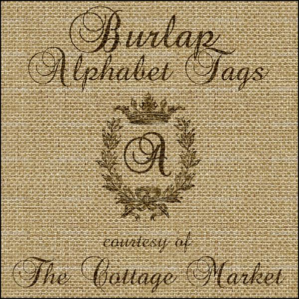 Free Printable Burlap Alphabet Tag Set A-Z