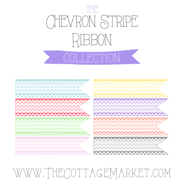 Free Chevron Stripe Ribbon Digital Collection
