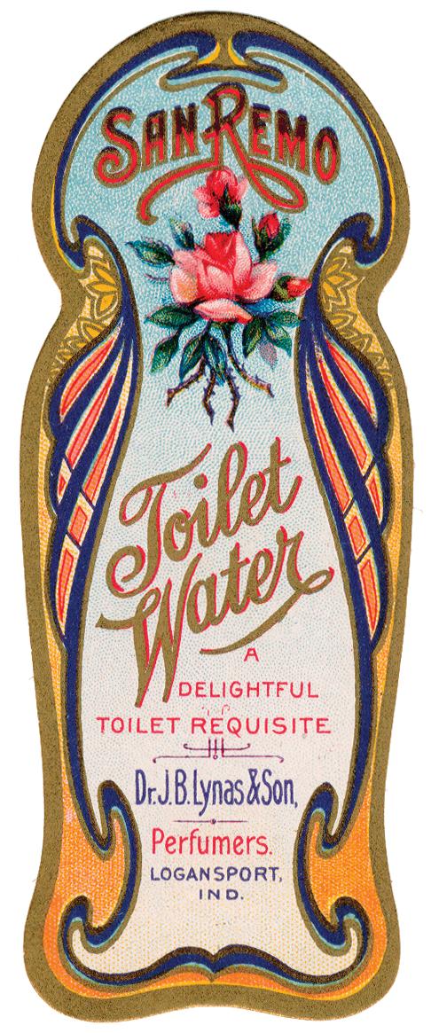 Free Graphic Vintage Perfume Label The Cottage Market