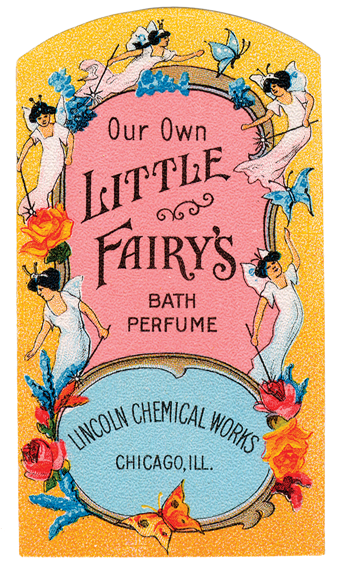 Free Graphic Of The Day Vintage Perfume Label With Little
