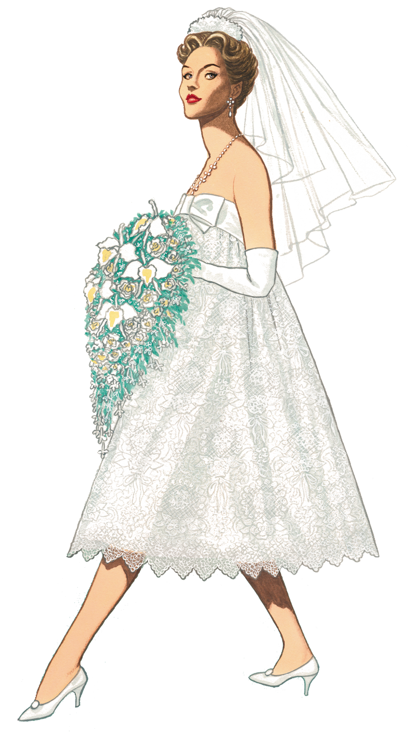 Graphic of the Day 1957 wedding dress dior