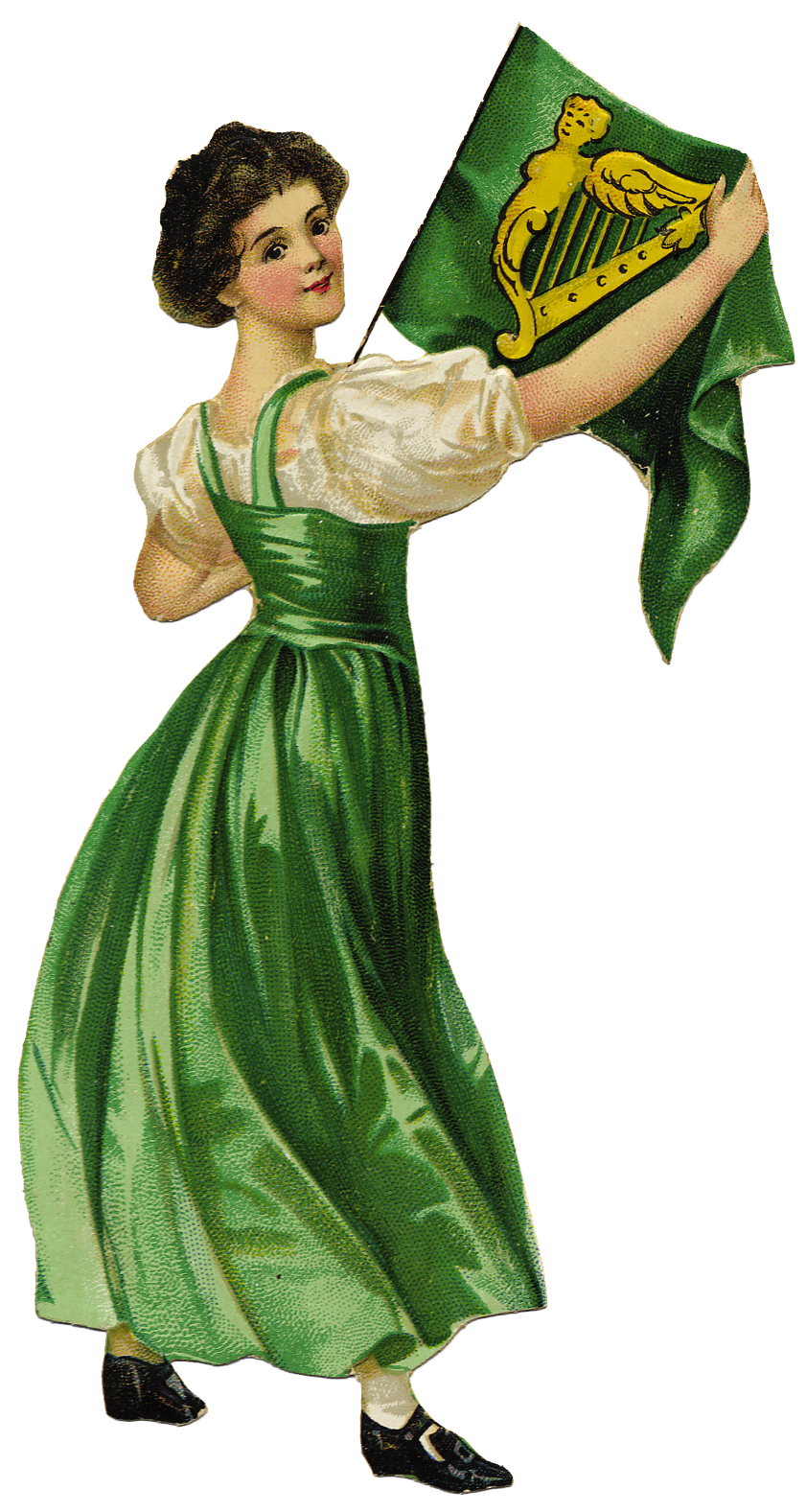 Free Graphic of The Day Irish Lassie for St. Patrick's Day