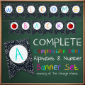 Free Back to School Banner/Bunting Full Alphabet & Number Set