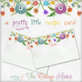 a pretty little recipe card anthropologie inspired