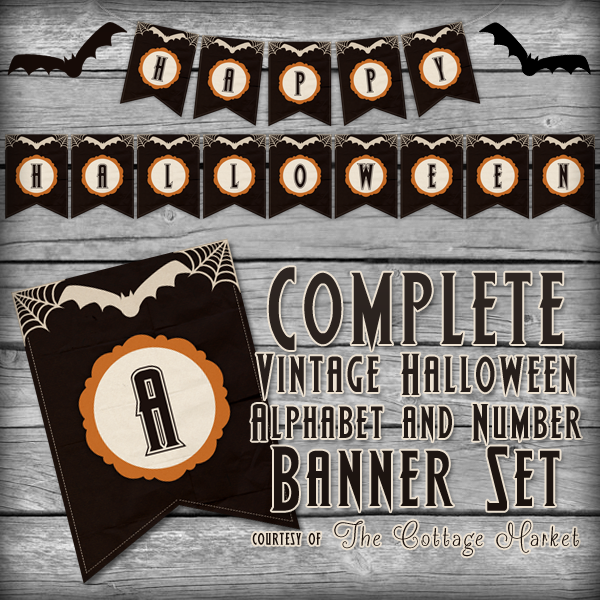 Free Printable Halloween Banner Set | The Cottage Market