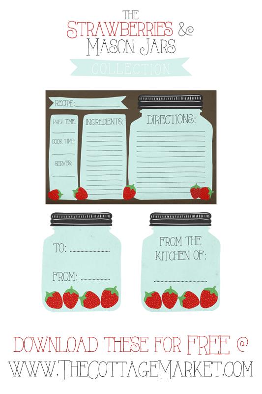 Free Printable Mason Jar Recipe Cards And Matching Gift