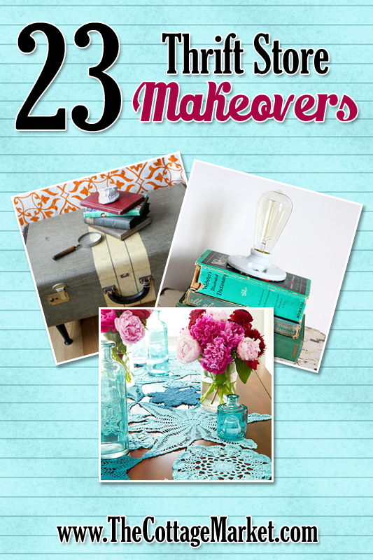 23 Thrift Store Makeovers: thrift store DIY project you can do at home!