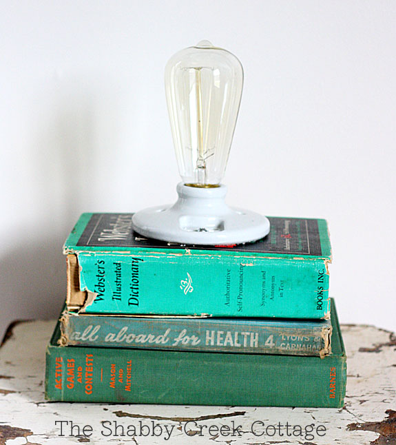 This brilliant thrift store DIY project took some old books and made them into a lamp!