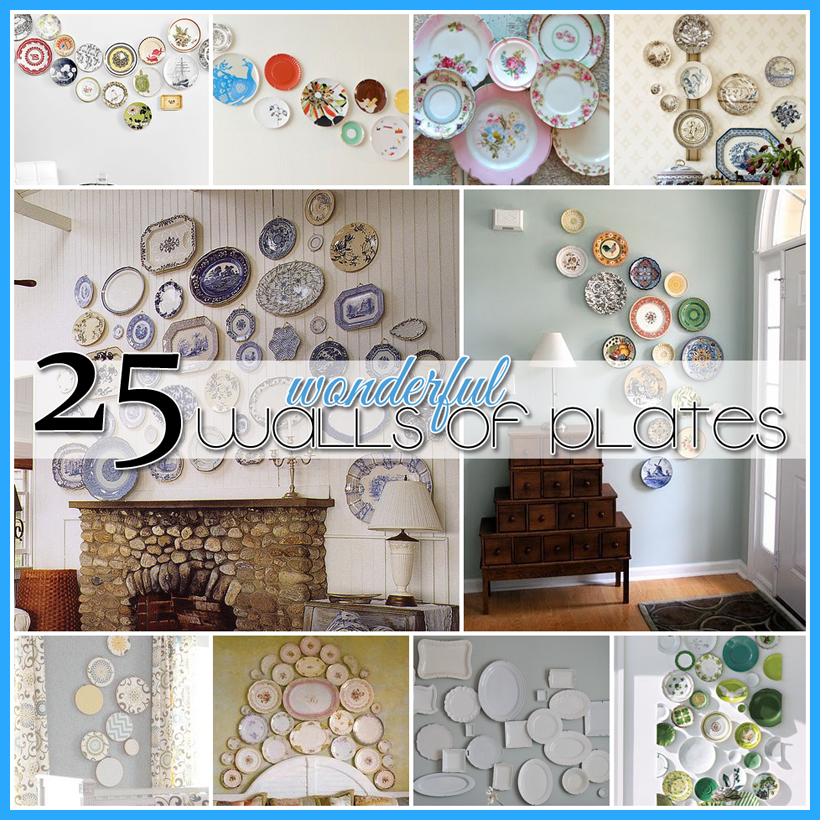 25 wonderful walls of plates diy projects the cottage market