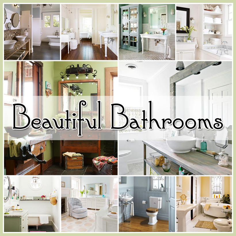 Beautiful bathroom ideas the cottage market for Beautiful bathroom ideas pictures