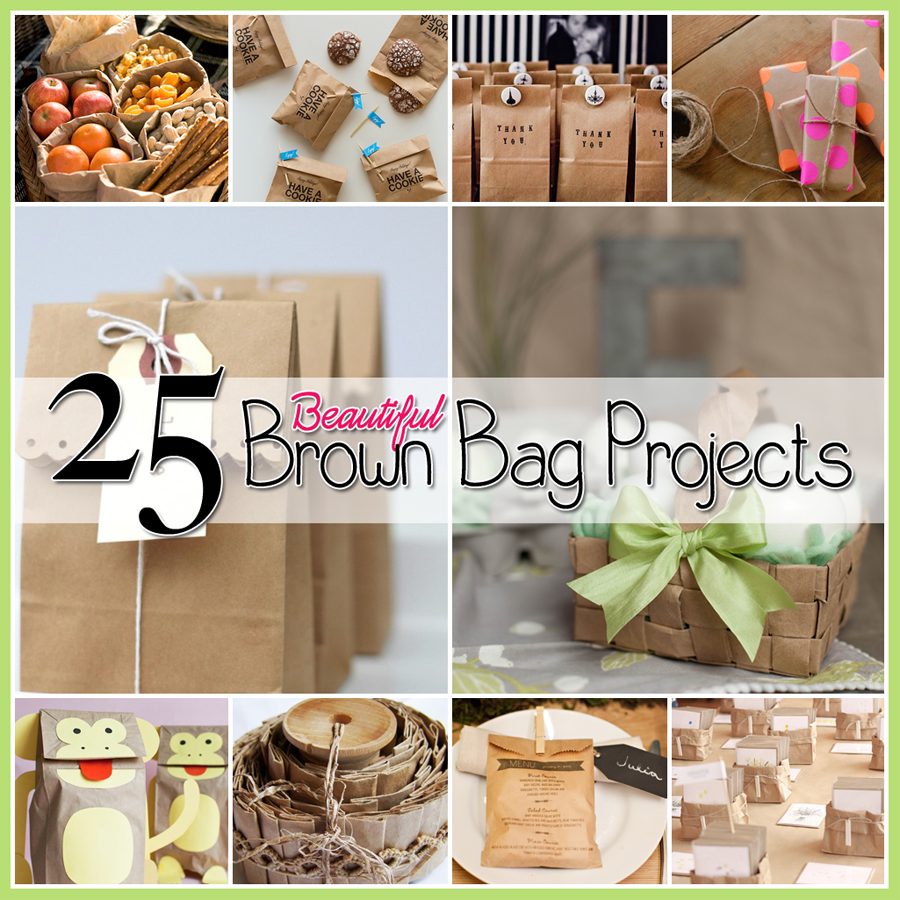 25 brown bag crafts create and recycle the cottage market for Brown paper craft bags