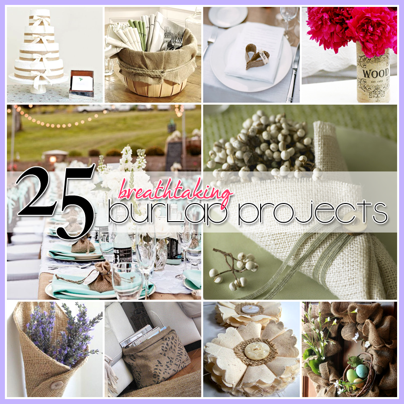 25 burlap diy 39 s the cottage market