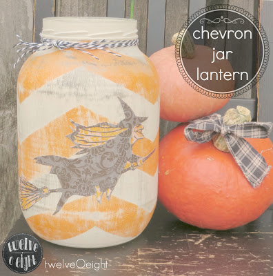 chevron jar lantern