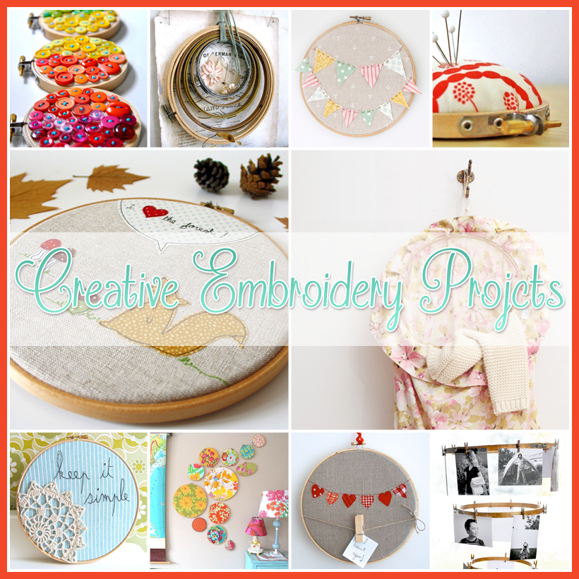 25 Exciting Embroidery Hoop DIY Projects