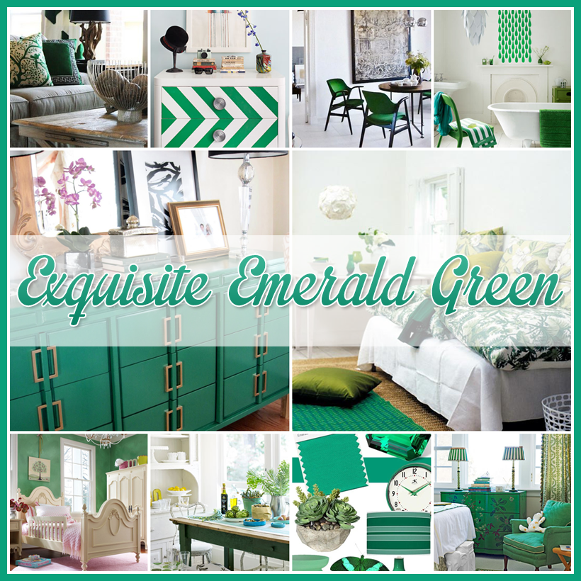 Decorating with Emerald Green Pantone's Color of the Year