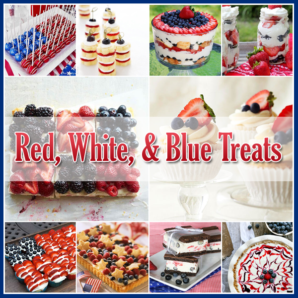 4th of July Red White and Blue Desserts
