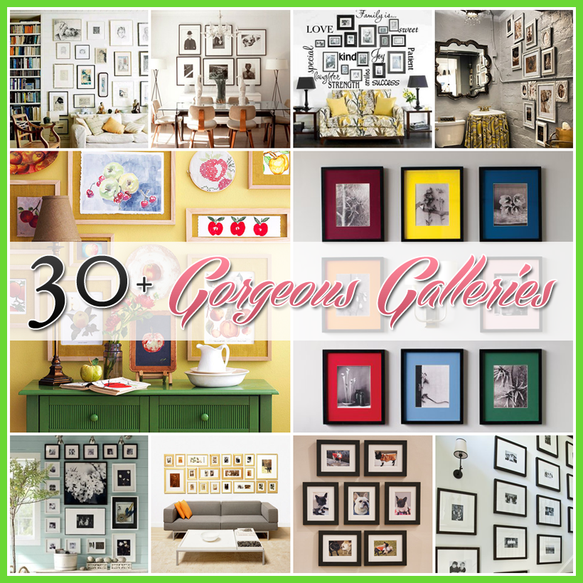 Photo Wall Gallery Feature 30+ Gorgeous Galleries