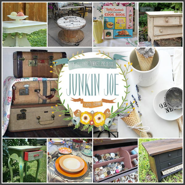 Junkin Joe Upcyling Thrifty Finds Furniture Make-Overs and more great Features plus a linky party! ALL WELCOME!