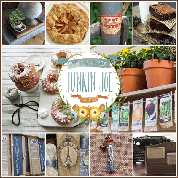 Junkin Joe Upcycling fun…Vintage Finds and more plus a Linky Party…All are Welcome