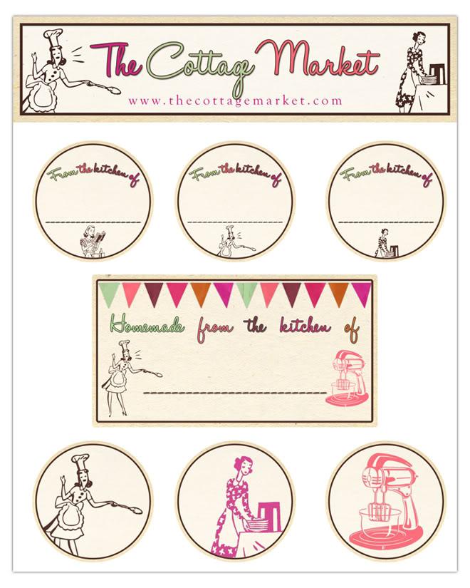 Free Digital Kitchen Label Printables And A Little Blog