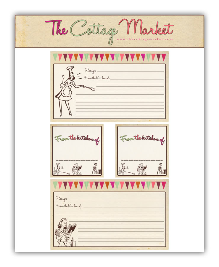 recipe sheet template free