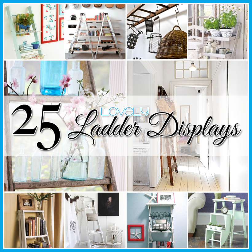 Decorating with ladders 25 creative ways the cottage market - Decoration creative ...