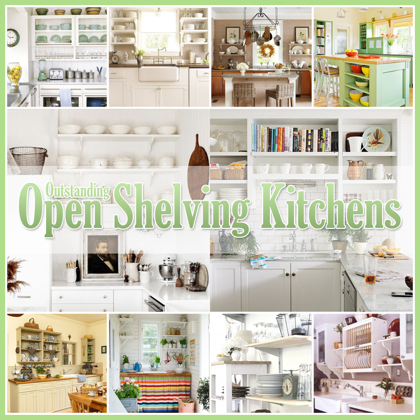 Design For Kitchen Shelves: 25 Stunning Open Kitchen Shelves Designs