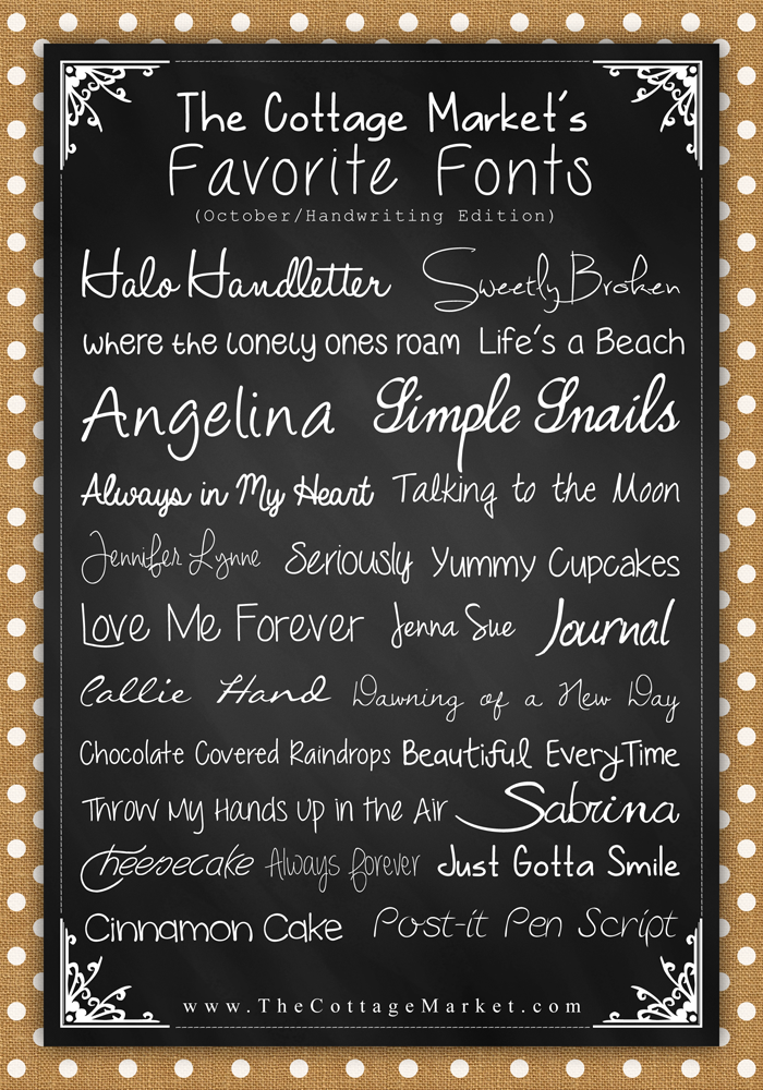 Free Fonts The Handwritten Edition