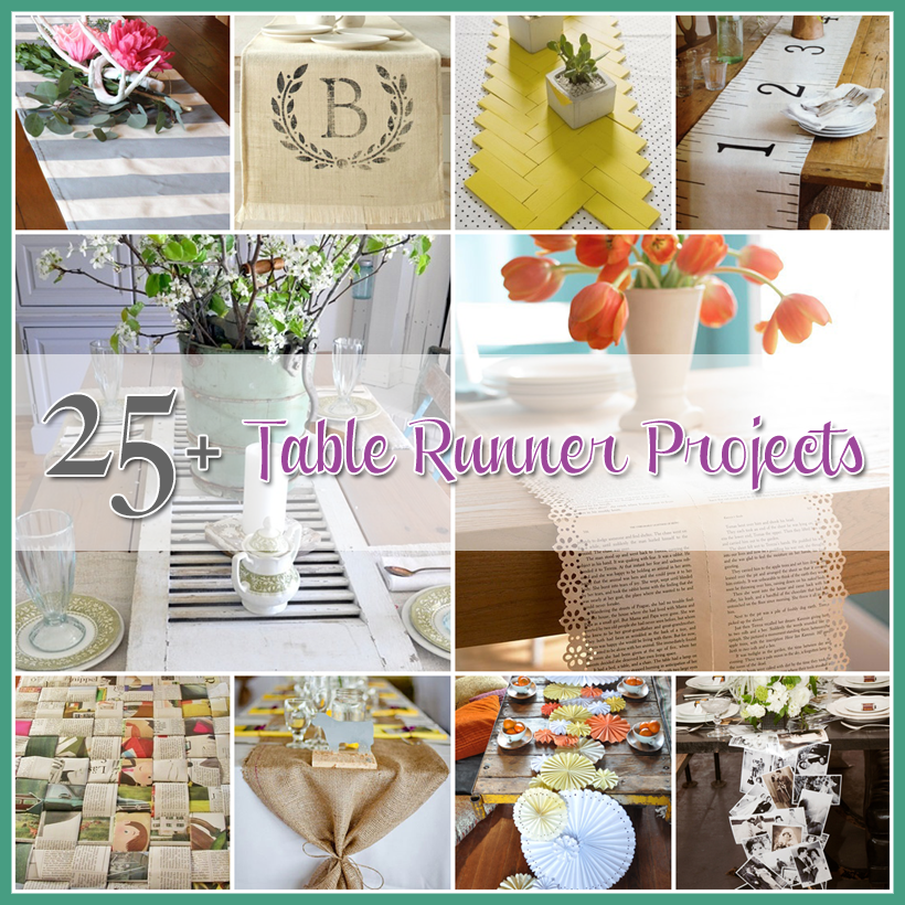 Table Runner Projects a Collection of 25+ DIY's