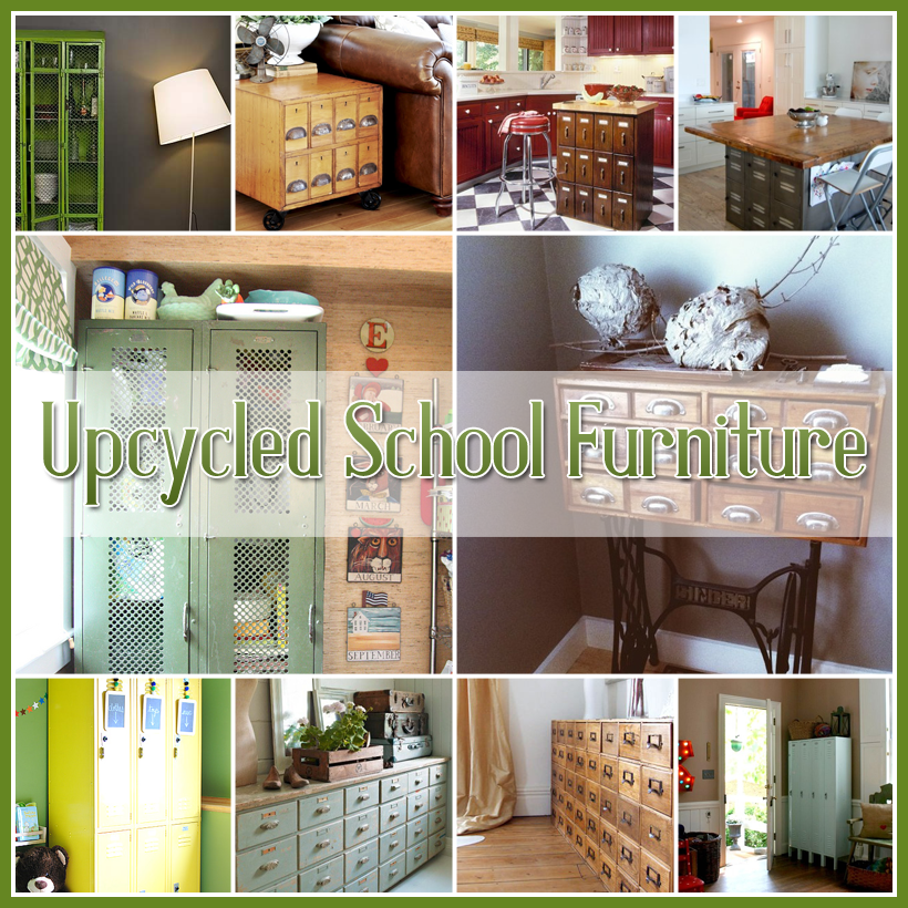 Repurposed And Upcycled Farmhouse Style Diy Projects: 25 Upcycled School Furniture And Card Catalogs It's SCHOOL