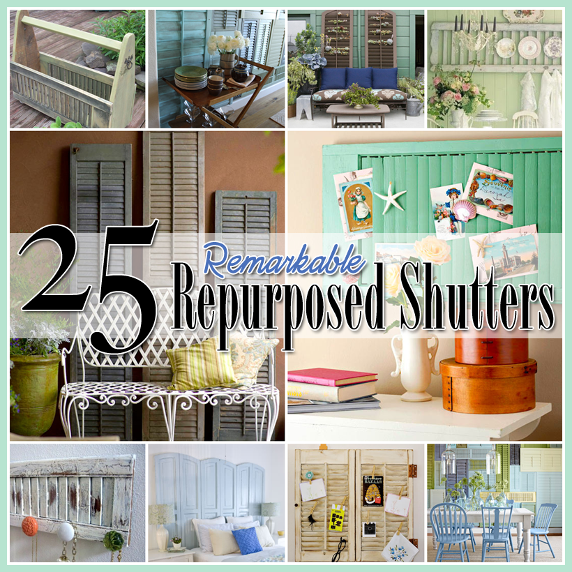 25 repurposed shutter decorating ideas the cottage market for Decorating with old windows and shutters