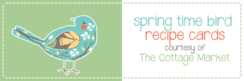 Free Spring Time Recipe Card Printable for you!