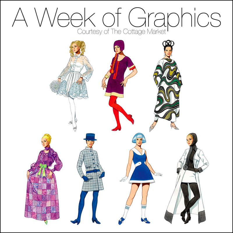 A Week of Graphics Saturday Special Fashions of the 1960's