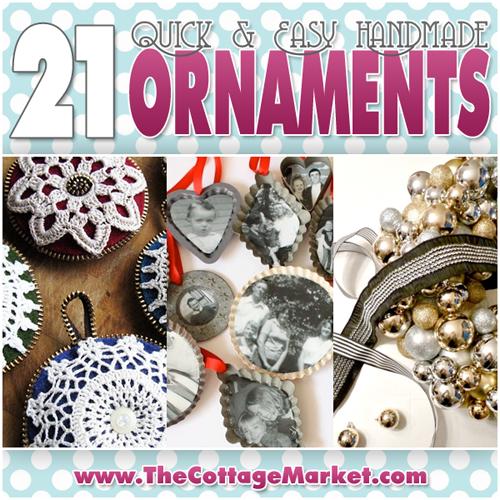 21 Quick & Easy Handmade Ornaments