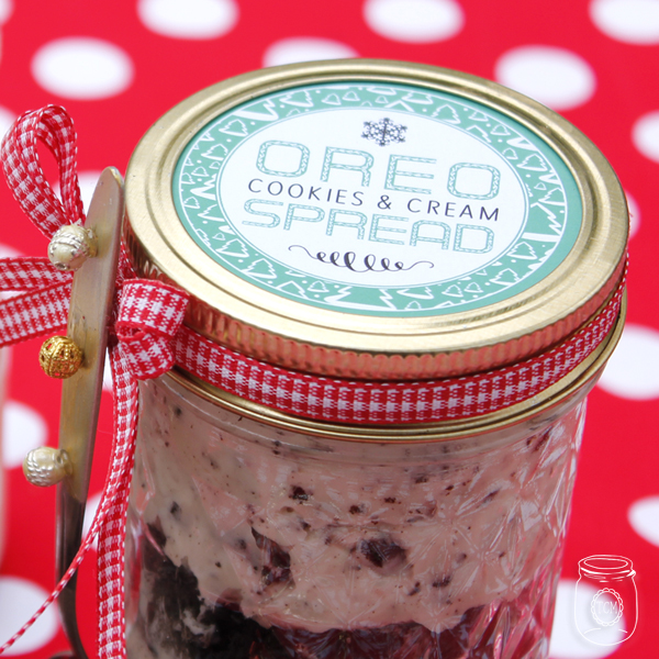 Oreo Cookies & Cream Spread Mason Jar Gift