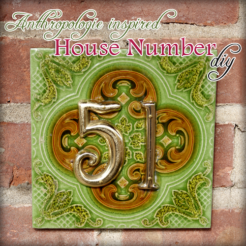 Quick and Easy Holiday Gift DIY: Anthropologie Inspired House Number